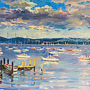 Sun And Clouds In Hudson Art Print