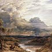 Sun Behind Clouds Art Print by John Linnell