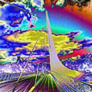 Sun Dial Bridge Redding Ca   Art Print