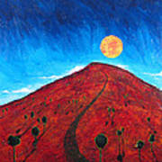 Sun Over Red Hill Art Print