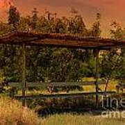 Sun Set Bus Stop Art Print