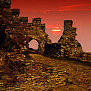 Sun Set Castle Art Print