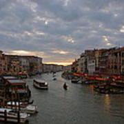 Sun Sets Over Venice Art Print