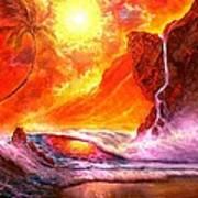 Sun Setting Hawaii Art Print