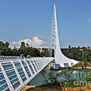 Sundial Bridge - Sit And Watch How Time Passes By Art Print