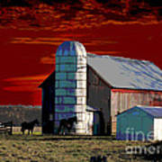 Sundown On The Farm Art Print