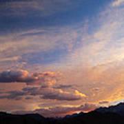 Sundown On The Sierras Art Print