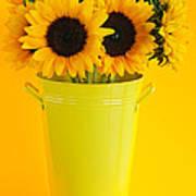 Sunflowers In Vase Art Print