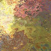 Sunlit Bricks Abstract Art Print