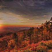 Sunrise 2-talimena Scenic Drive Arkansas Art Print by Douglas Barnard