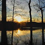 Sunrise Along The Delaware River Art Print