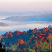 Sunrise And Fog In The Cumberland River Valley Art Print