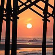 Sunrise At Folly Pier Art Print