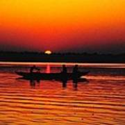 Sunrise At Indian Sea  Art Print