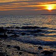 Sunrise At Mt Loretto Beach Art Print