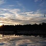 Sunrise At The Pond Art Print