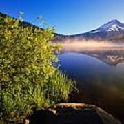 Sunrise Fog On Trillium Lake Art Print