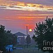 Sunrise From Backyard Art Print