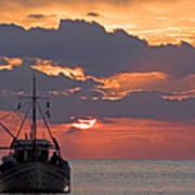 Sunrise In Crete Art Print