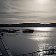 Sunrise Lake Pleasant Art Print by Arne Hansen