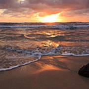 Sunrise On Kauai Coast Art Print