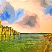 Sunrise On Lake Powell Art Print