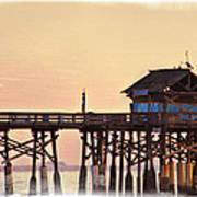 Sunrise On Rickety Pier Art Print