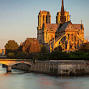Sunrise Over Notre Dame Art Print