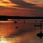 Sunrise Over Southwest Harbor Art Print