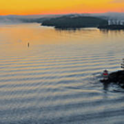 Sunrise Ryssmasterna Lighthouse Sweden Art Print