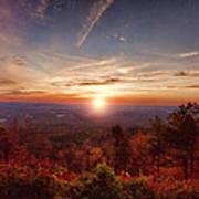 Sunrise-talimena Scenic Drive Arkansas Print by Douglas Barnard