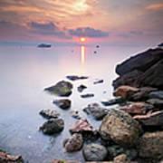 Sunrise To Théoule Sur Mer Art Print