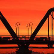Sunrise Walnut Street Bridge Art Print