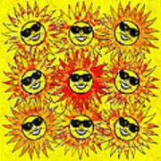 Suns Party Art Print