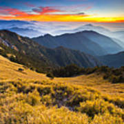 Sunset , Hehuan Mountain , Taroko National Park , Art Print