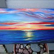 Sunset And Stone Art Print