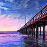 Sunset At Avila Beach Art Print