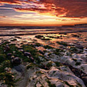 Sunset At Birling Gap Art Print
