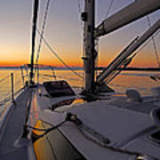 Sunset At Burlington Harbour ... Art Print