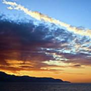 Sunset At Costa Del Sol Art Print