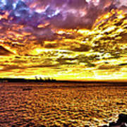 Sunset At Danshui Hdr Art Print