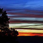 Sunset At Desert View Along The Grand Canyon Art Print