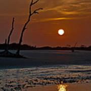 Sunset At Folly Island Sc Art Print