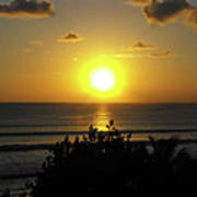 Sunset At Kuta Beach Art Print