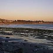 Sunset At Low Tide On Ventura Beach Art Print