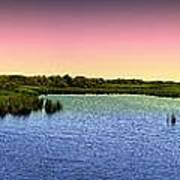 Sunset At Sandpiper Pond Art Print