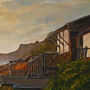 Sunset At The Beach House Art Print