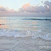 Sunset At The Beach Yucatan Peninsula Mexico Art Print