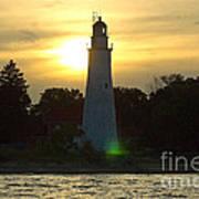 Sunset At The Ft. Gratiot Lighthouse Art Print