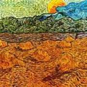 Sunset At The Hills Art Print